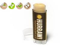 100 % натуральный бальзам для губ Hurraw Sun Balm c SPF 15 Защита от солнца с ромашкой и маслом мандарина