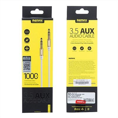Кабель AUX Audio 3.5 mm Remax RM-L100 White