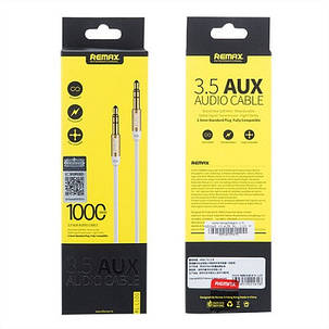 Кабель AUX Audio 3.5 mm Remax RM-L100 White, фото 2