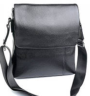 Мужская кожаная сумка 8878 Black. Мужские сумки оптом и в розницу недорого в Украине., фото 1