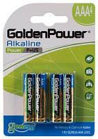 Батарейка GOLDEN POWER Power Plus AAА BLI 4 Alkaline