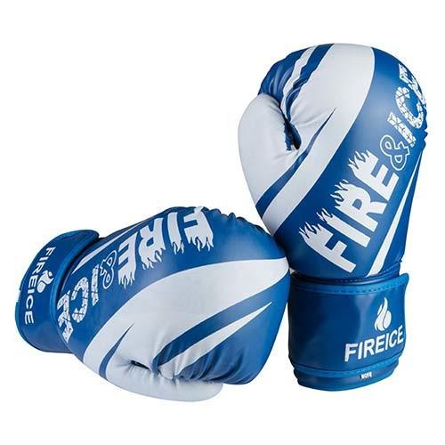 Боксерские перчатки синие 8oz Fire&Ice DX