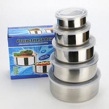 Набор металлические судочки для хранения пищевых продуктов FRICO Protect Fresh Box 5шт, фото 2