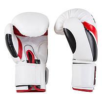 Боксерские перчатки бело-красные 12oz TopTen DX-31, фото 3