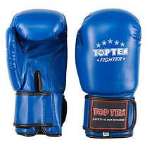 Боксерські рукавички сині 8oz TopTen DX-3148, фото 2