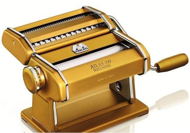 Машинка для раскатки теста + лапшерезка Marcato Atlas 150 Oro, фото 2