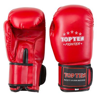 Боксерские перчатки красные 10oz TopTen DX-3148