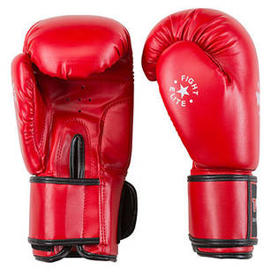Боксерские перчатки красные 10oz TopTen DX-3148, фото 2