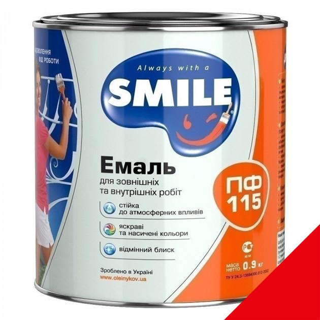 Фарба Smile ПФ-115 червона 0,9кг