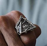 Кольцо серебряное Всевидящее Око Осьминог КЦ-135 Б, фото 3