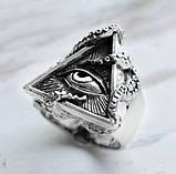 Кольцо серебряное Всевидящее Око Осьминог КЦ-135 Б, фото 2