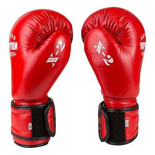 Боксерські рукавички шкіряні червоні 8oz TopTen TT-X2, фото 2