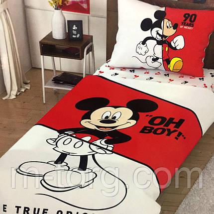 Детское и подростковое постельное белье TAC Disney Mikky Mause  ранфорс / простынь на резинке, фото 2