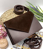Женский сумка на плечо 042 коричневый женские клатчи, женские сумки купить оптом в Украине, фото 1