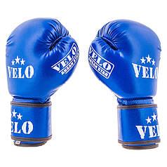 Боксерские перчатки синие 12oz Velo Ahsan Star, Flex
