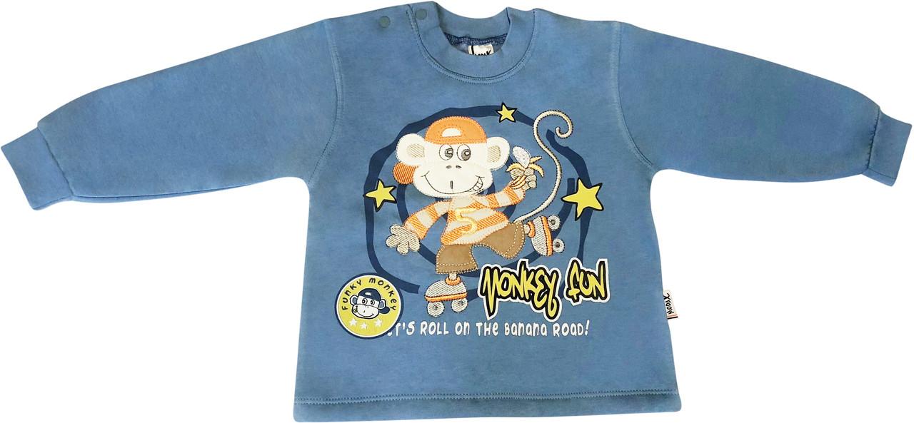 Кофта-толстовка Modax ріст 98 байка синій на хлопчика для дітей ТН-132