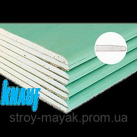 Гипсокартон KNAUF стеновой  влагостойкий 12,5 мм (1,2х2,5)