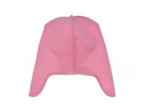 Флисовая подкладка для шапки с ушками 42см, Розовая