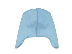 Флисовая подкладка для шапки с ушками 42см, Голубая