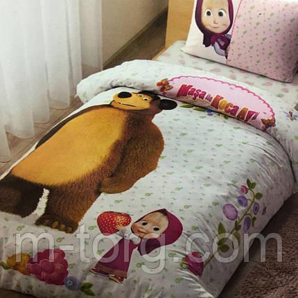 Дитяче та підліткове постільна білизна TAC Disney Маша і Ведмідь ранфорс / простирадло на гумці, фото 2