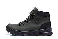 Мужские  зимние кожаные кроссовки   icefield  Olive Classic р. 40  44, фото 1