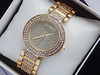 Женские кварцевые наручные часы Michael Kors на металлическом ремешке со стразами