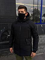 Зимняя парка мужская до - 30*С LC Stark xx all black | Пуховик мужской | Куртка мужская теплая черная Премиум