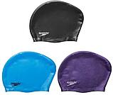 Силіконова шапочка для плавання для довгого волосся Speedo фіолетова, фото 2
