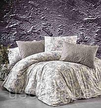 Комплект постельного белья из фланели ТМ Belizza Estelita Bej Двуспальный Евро