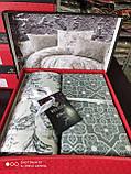 Комплект постельного белья из фланели ТМ Belizza Estelita Bej, фото 2