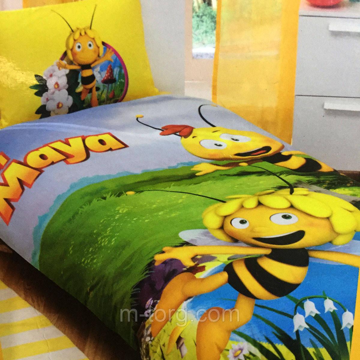 Детское и подростковое постельное белье TAC Disney MAYA  ранфорс / простынь на резинке