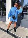 Свободное вязаное платье - туника миди с высоким горлом (р.р 40-54)  18py1640, фото 6
