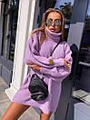 Свободное вязаное платье - туника миди с высоким горлом (р.р 40-54)  18py1640, фото 8