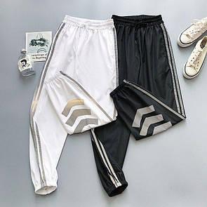 Женские спортивные штаны джоггеры со светоотражающими полосками (р. 42-46) 68bu539