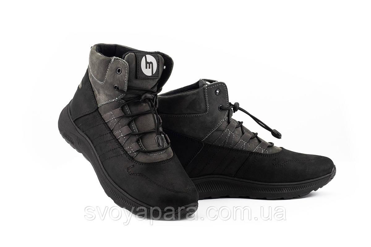 Подростковые ботинки кожаные зимние серые Monster Ш