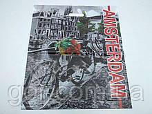 """Пакет з прорізною ручкою (45*53+)""""AMSTERDAM"""" Леомі (50 шт)"""