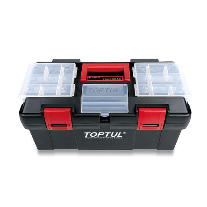 Ящик для инструментов пластиковый 3 секции 445x240x205 TOPTUL TBAE0302