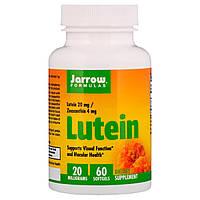 Лютеин, 20 мг, Lutein, Jarrow Formulas, 60 желатиновых капсул