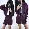 Костюм теплый женский плотная юбка с карманами и куртка пиджак, фото 2