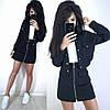 Костюм теплый женский плотная юбка с карманами и куртка пиджак, фото 6