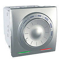 Механизм терморегулятора для теплого пола с датчиком, 10 A, Unica алюминий