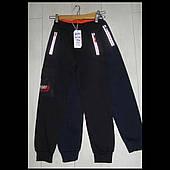 Детские теплые трикотажные штаны для мальчиков оптом GRACE 116--146см