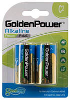 Батарейка GOLDEN POWER Power Plus C BLI 2 Alkaline