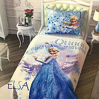 Детское и подростковое постельное белье TAC Disney FROZEN ранфорс / простынь на резинке