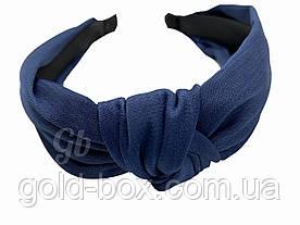 Обідок чалма для волосся шовковий синій