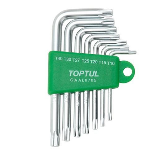 Набор ключей TORX Г-обр. TOPTUL T10-T40 7ед. GAAL0705