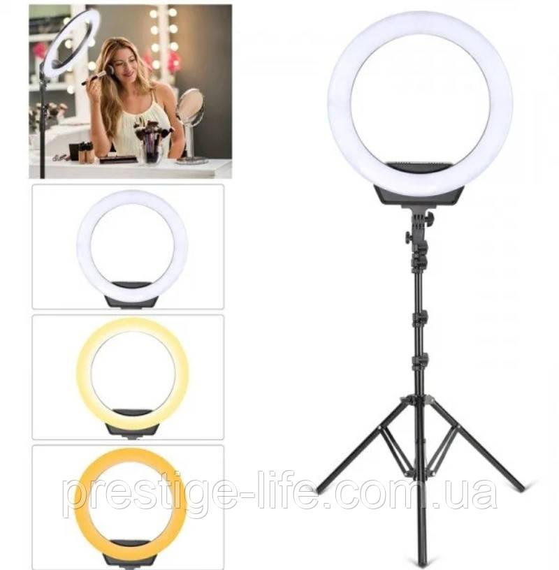 Кольцевая LED лампа Ring Light ZD-16 диаметром 40 см со штативом