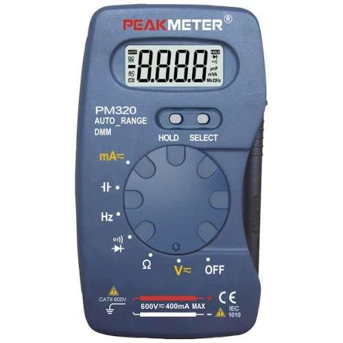 Мультиметр портативный с функцией измерения ёмкости и частоты PROTESTER PM320