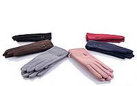 Женские перчатки оптом 2-37 mix  Женские перчатки для сенсора, перчатки женские текстиль оптом Одесса 7 км