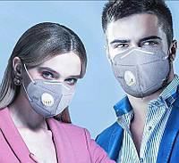 МНОГОРАЗОВАЯ шестислойная маска для защиты супер качества с угольным фильтром и респиратором